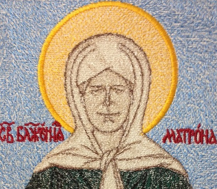 """Embroidered icon """"St. Matrona of Moscow"""""""