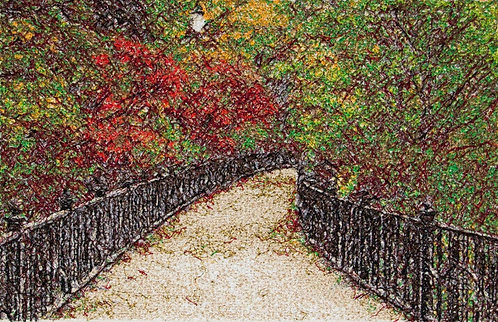"Embroidered picture ""Autumn Park"""