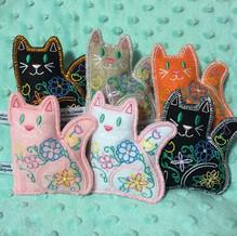 Stuffed felt ornaments