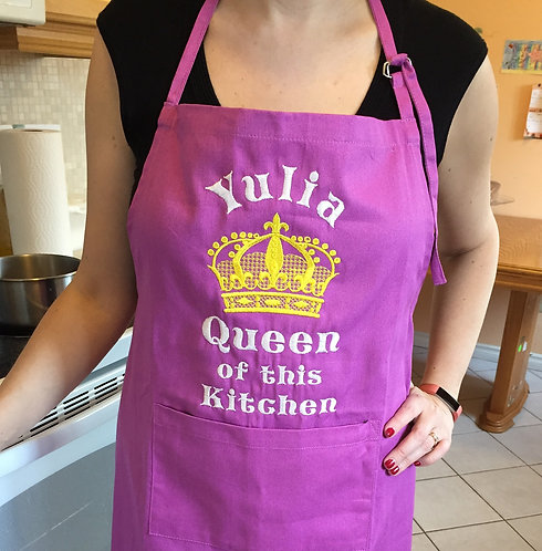 Personalized Apron with Crown