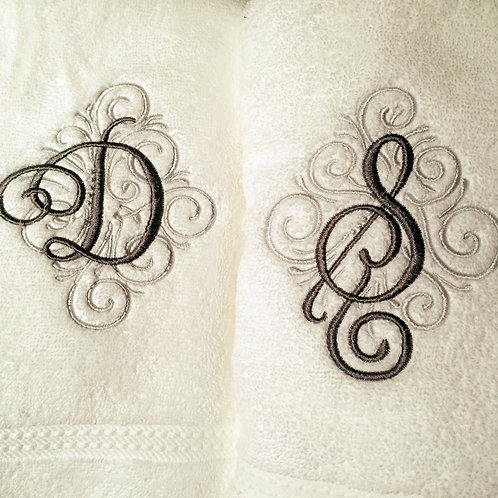 Hand Towel with Embroidered Monogram