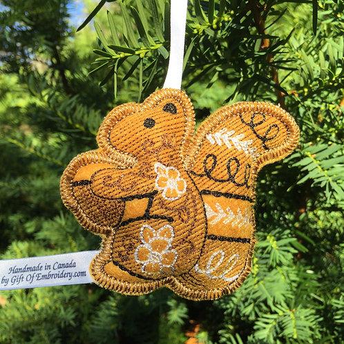 Woodland Squirrel Stuffed Ornament