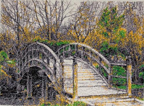 "Embroidered picture ""The Bridge"""