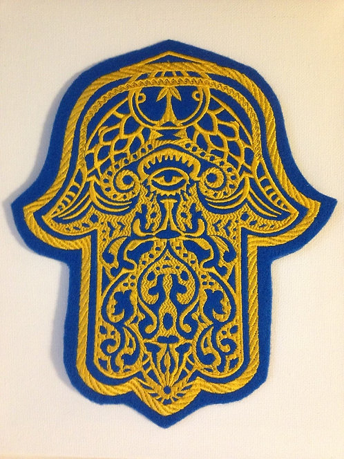 Embroidered Hamsa Hand