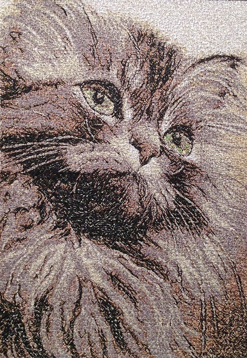 """Embroidered painting """"Fluffy"""""""