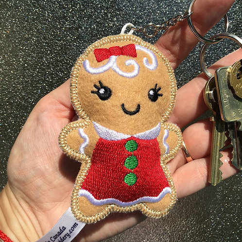 Gingerbread Girl Keychain