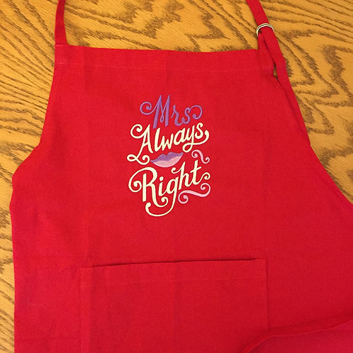 Mrs Always Right Apron