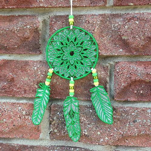 Emerald Green Lace Dream Catcher