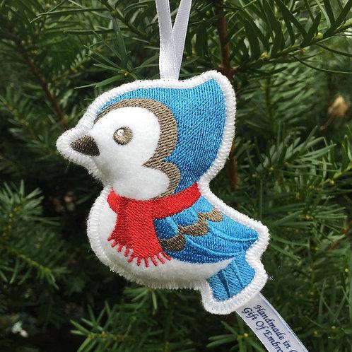 Bluebird Stuffed Ornament