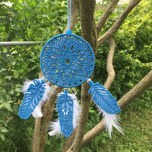Blue Lace Dream Catcher