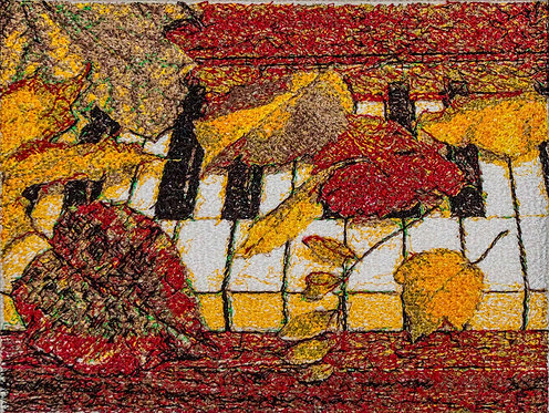 "Embroidered picture ""The Piano"""