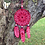 Thumbnail: Red and Pink Lace Dream Catcher