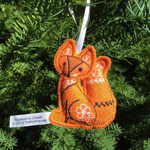 Woodland Fox Stuffed Ornament