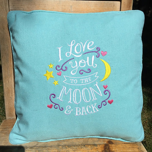 I Love You to the Moon Decorative Pillow