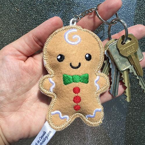 Gingerbread Boy Keychain