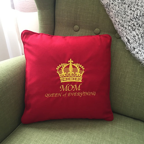 Embroidered Throw Pillow for Mom
