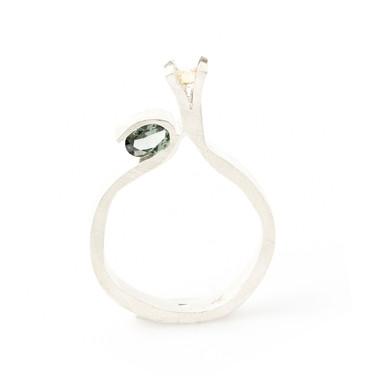 Transfigure ring_silver_zilver_tourmalin