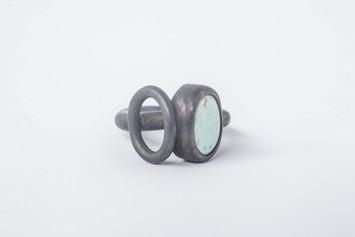 Oxidized silver 925, turquoise, 2016