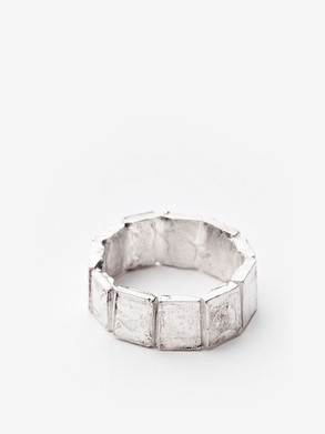 Wide Polyptych ring
