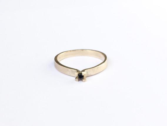 Transfigure 14k gold goud spinel black z