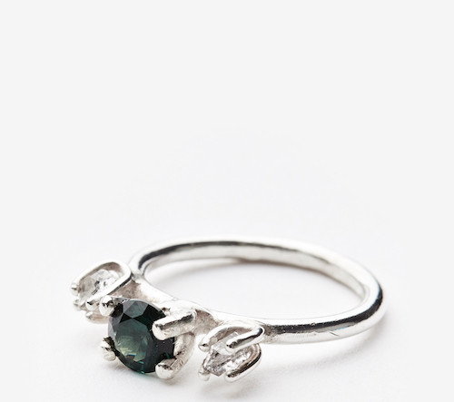Classic Contemporary spinel_herkimer_sil