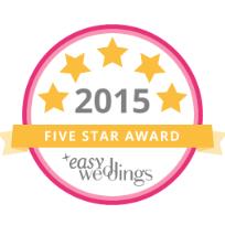 Easy Weddings 5 star supplier