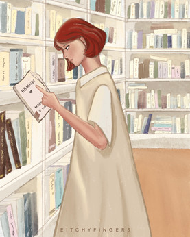 """This is a quarantine piece called """"I Miss Going To The Bookstore"""""""