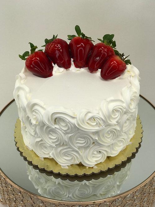 Vanilla w/ Strawberry Mousse