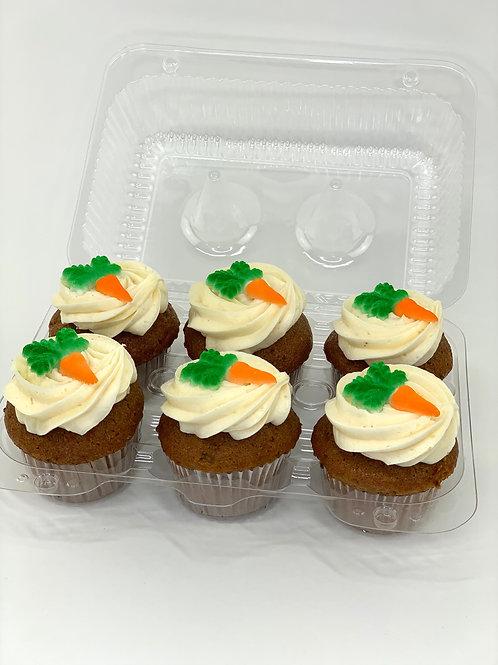 Carrot Cupcakes - 1/2 dozen