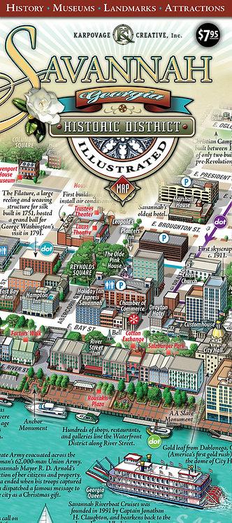 Savannah Map (Folded)