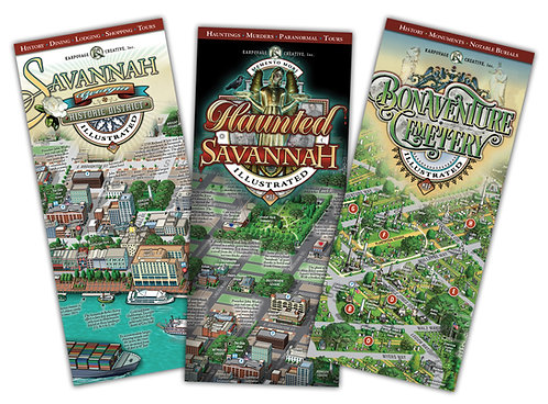 Order all 3 Savannah Maps. Save $1 off each.