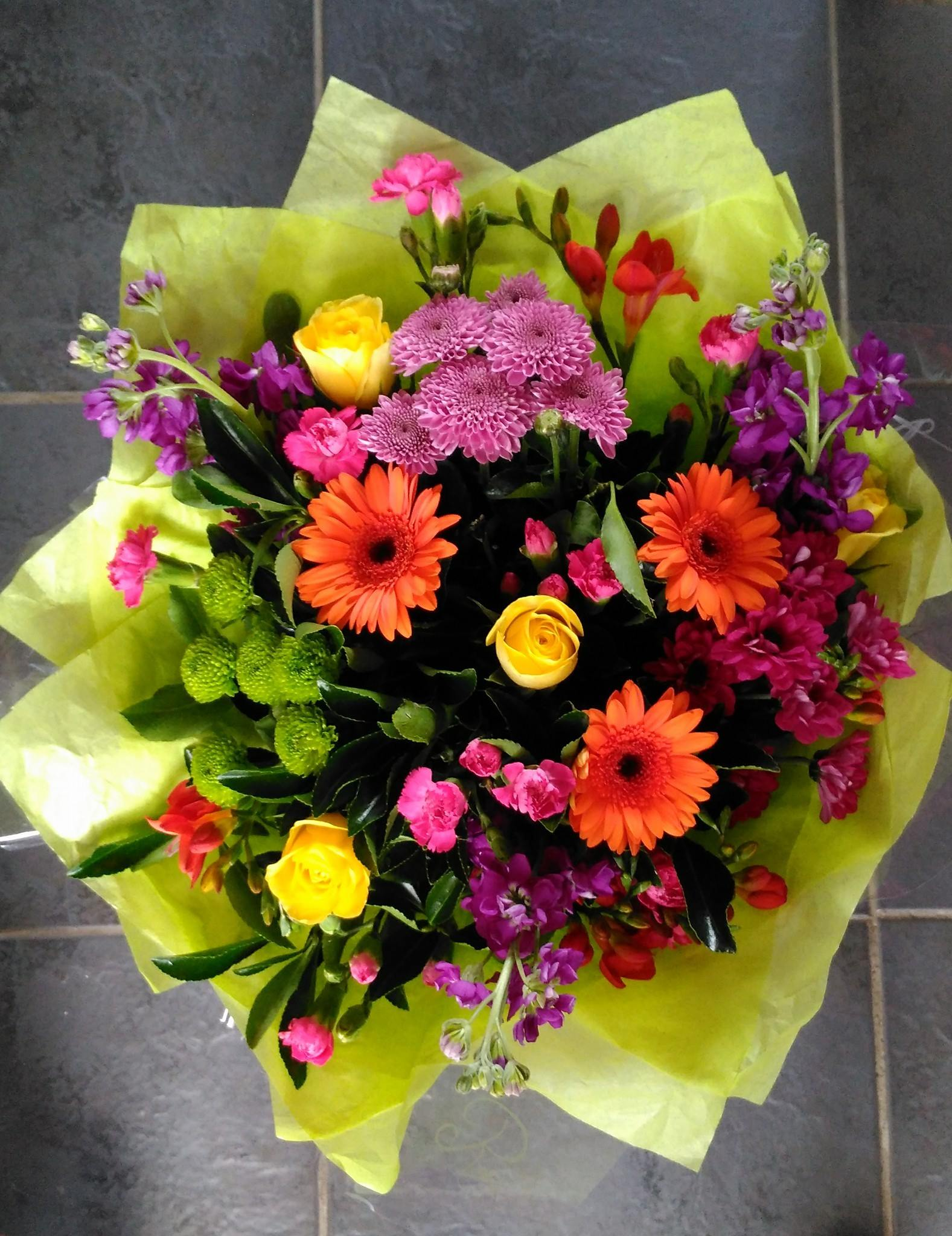 Cheerful hand tied