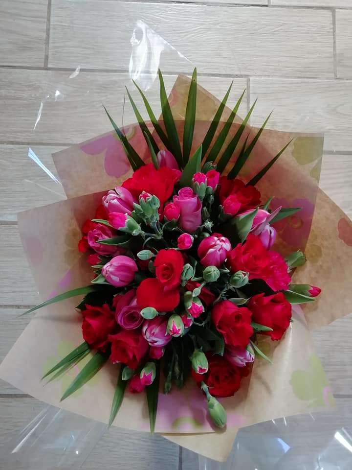 Rosie rose hand tied bouquet