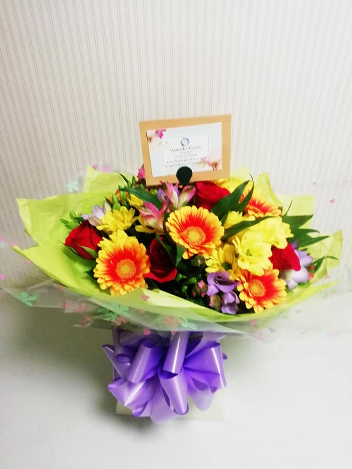 Bright Zap hand tied bouquet
