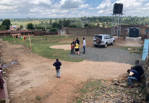 The yard, garden, soccer field, and grazing area for goats