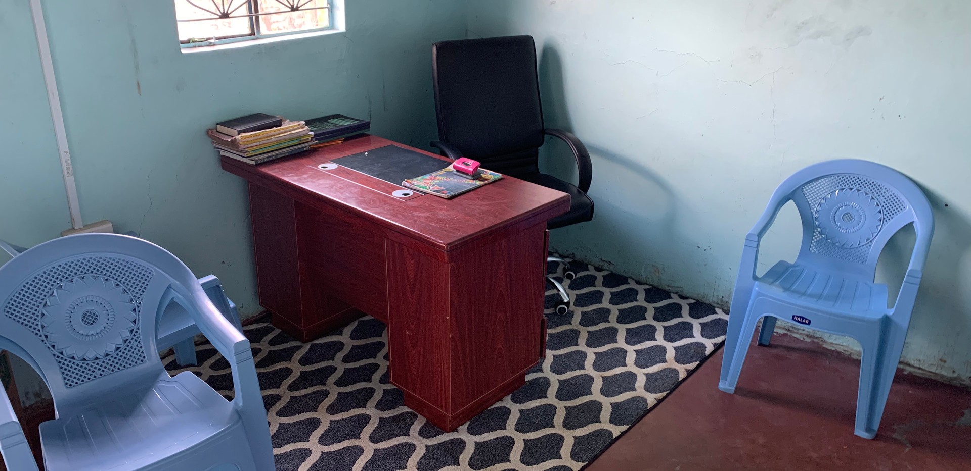 Office and visitor greeting area
