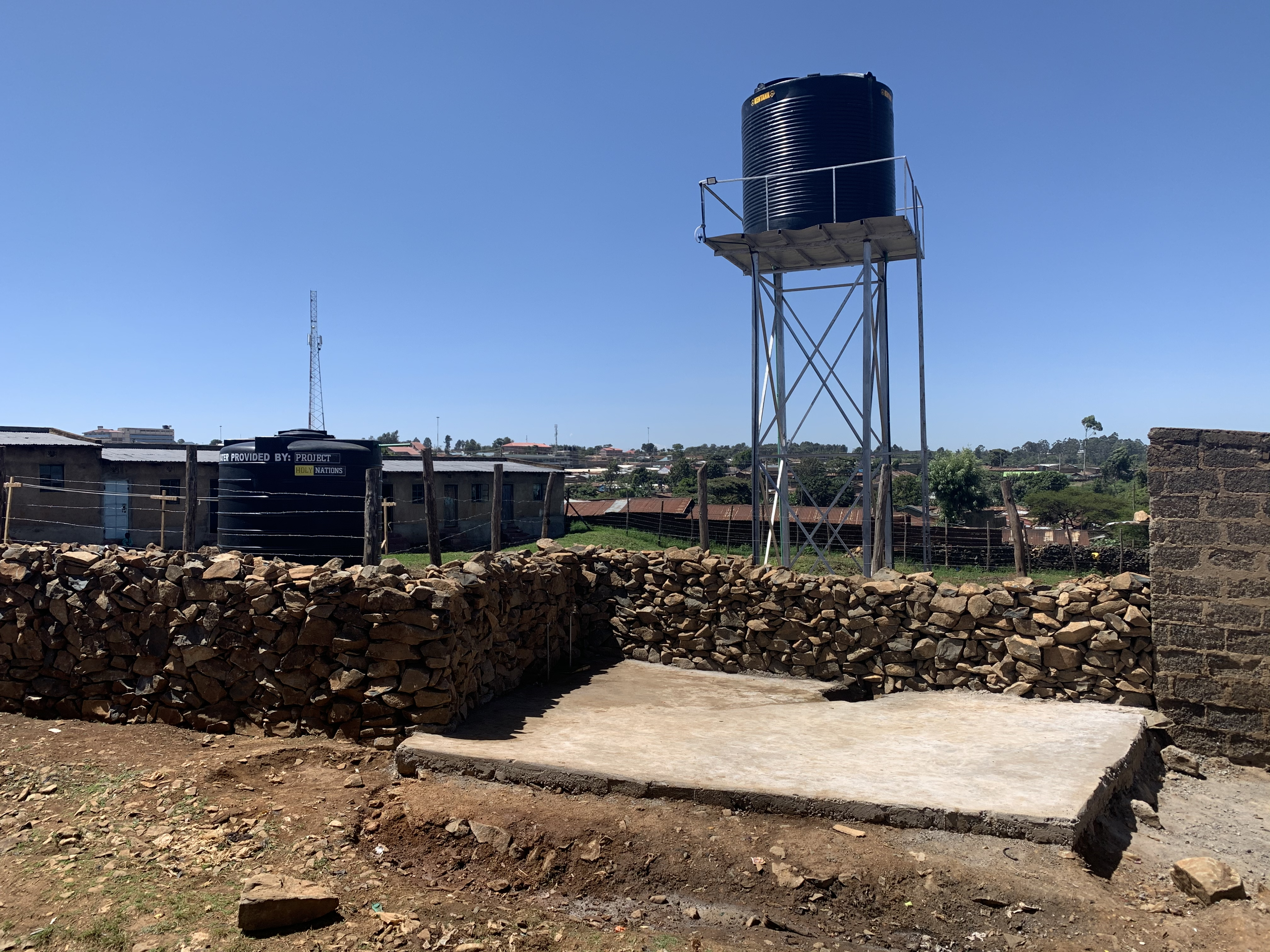 2 Water tanks to serve the community