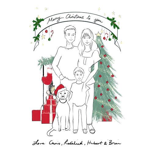 Christmas digital sketch