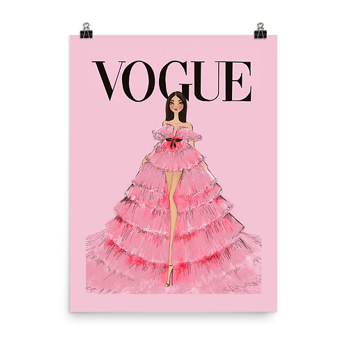 Vogue Giambattista Valli Tulle Poster