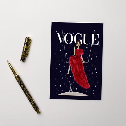 Vogue Starry Night Postcard