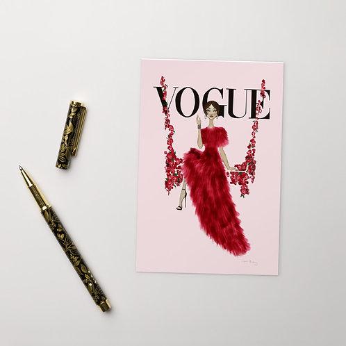 Vogue Floral Swing Postcard