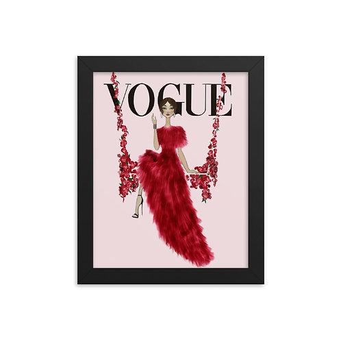 Vogue floral swing framed poster