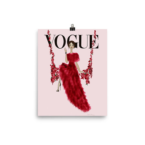 Vogue flower swing poster