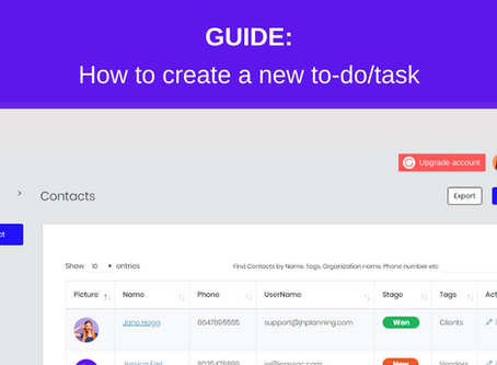 GUIDE: How to create a new to-do/task