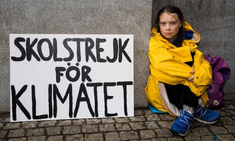 16-year old Swedish climate change activist, Greta Thunberg