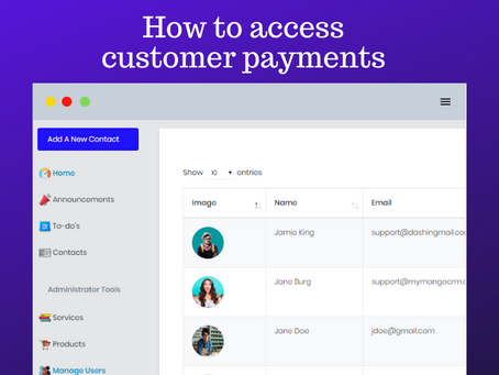 Accessing customer payment history