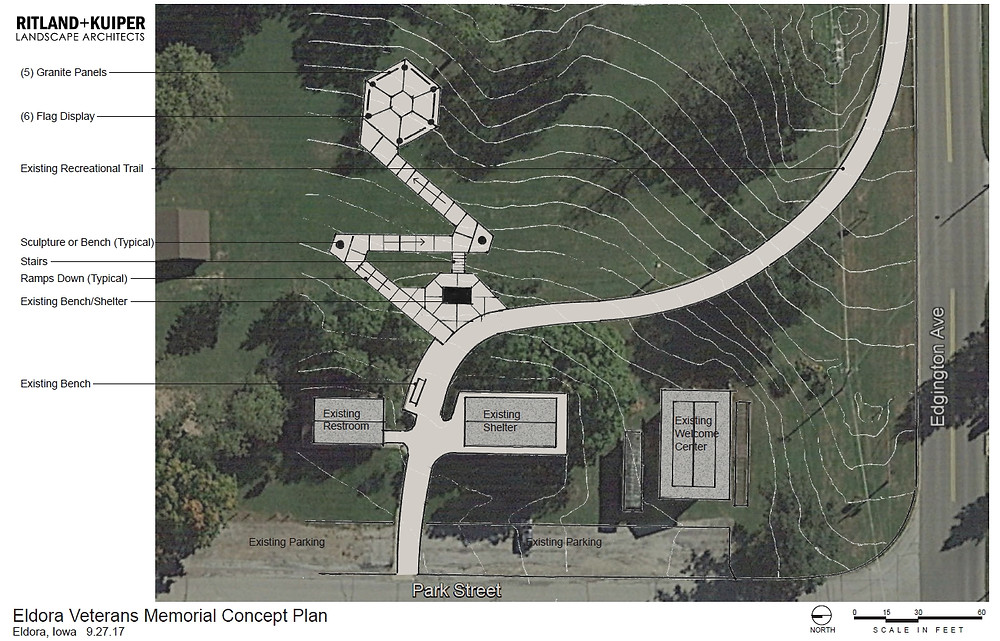 Eldora Veterans Memorial Concept Plan