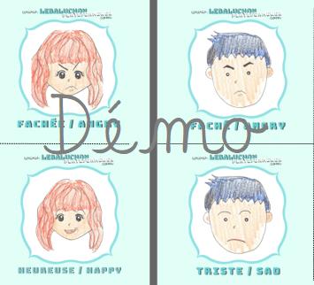 Pictogrammes 4 émotions de base