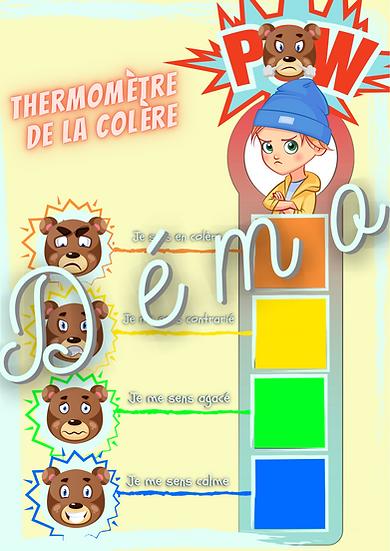 Thermomètre de la colère et autres outils pour l'enfant