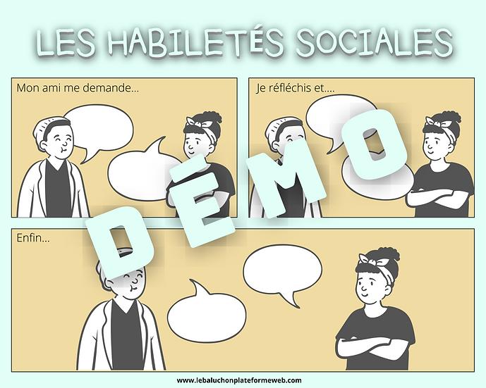 Habiletés sociales | Activité pour le client | Scénarios sociaux